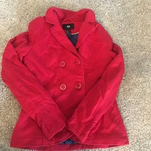 Red double breasted nautical blazer